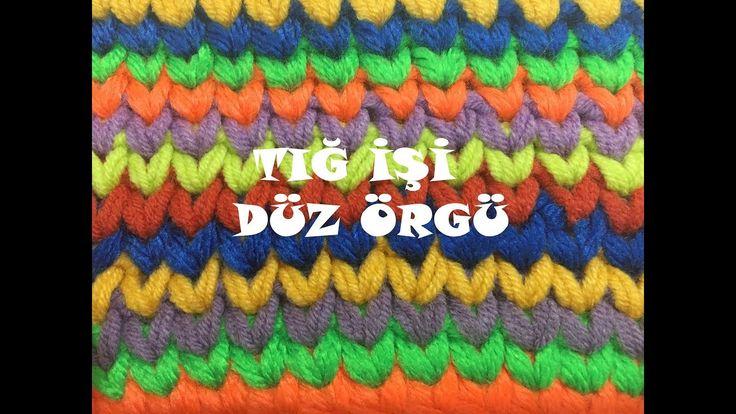 Tığ İle Düz örgü - Waistcoat Crochet Stitch