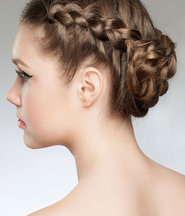 braided side bun - easy hairstyles