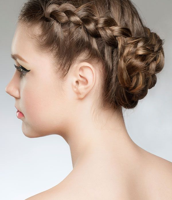 braided side bun - easy hairstyles