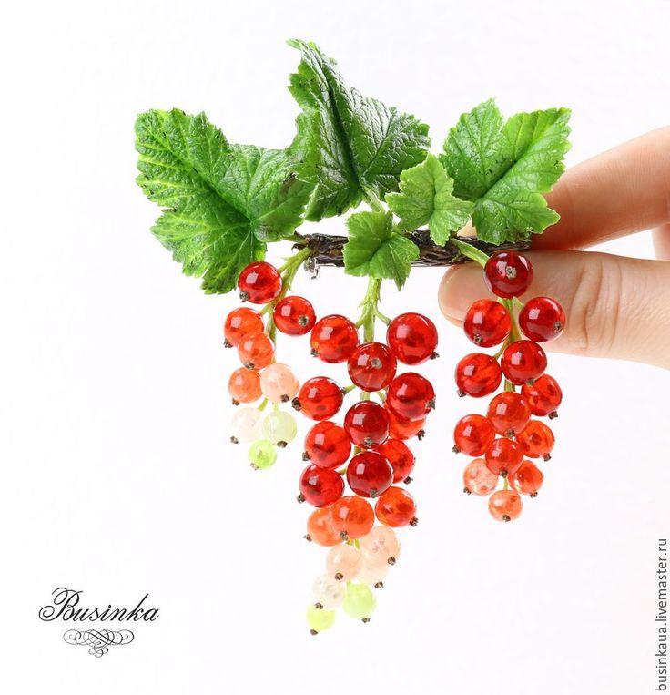 Видеурок: реалистичная веточка красной смородины в смешанной технике - Ярмарка Мастеров - ручная работа, handmade