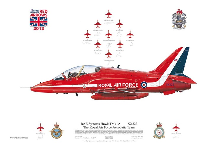 Our friends at Squadron Prints have given us some 2013 signed RAF Red Arrows art prints to add to the prize bundle!