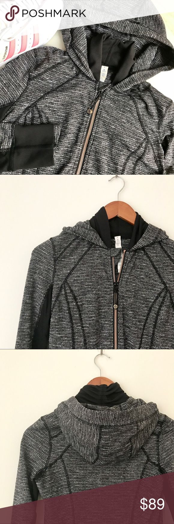 Lululemon daily practice jacket coco pique * Amazing body fit | long-ass lululemon hoodie  * Luon fabric / preloved in excellent condition (no flaws) lululemon athletica Jackets & Coats