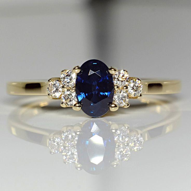 Inel din aur sau platina, cu safir si diamante II Cod produs: i71604SfODi