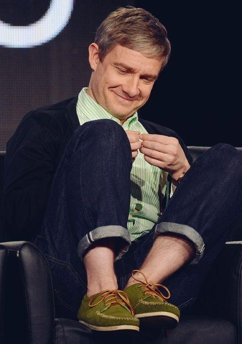 Martin Freeman, he's such a fashionista. I adore him <3 Squeeeeeeeeeeeeeee HIPSTER Martin!!! <3