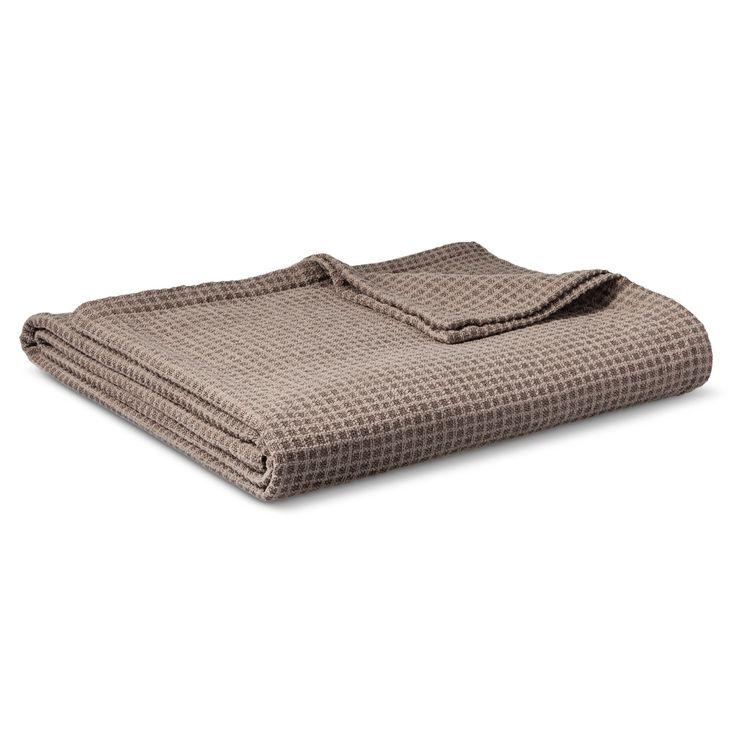 Chenille Blanket Gray (Full/Queen) - Threshold, Graystone