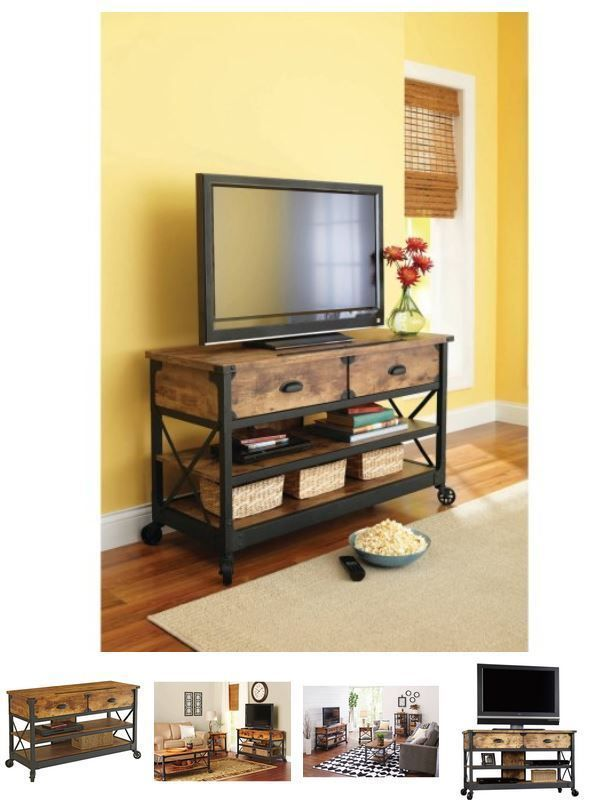 50 Inch Tv Stand Media Console Electric Entertainment Center Tv