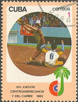 Znaczek: XIV Central-American & Caribean Games. Baseball (Kuba) (Central American and Caribbean Games) Mi:CU 2675