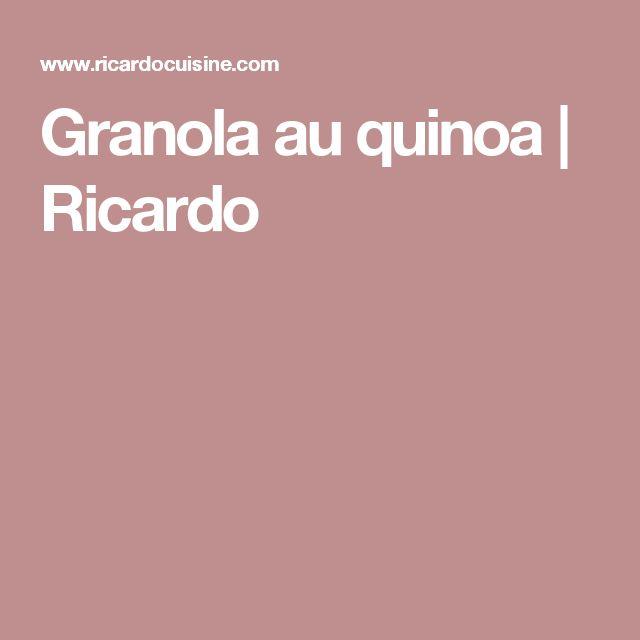 Granola au quinoa   Ricardo
