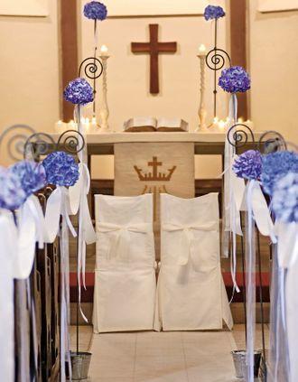 Kirchendeko Hortensien