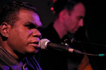 Indigenous peoples: People, place, language and song | Global Words | Geoffrey Gurrumul Yunupingu performing at St George's Church, Brighton, May 2009. Photo by Greg Neate, CC BY 2.0