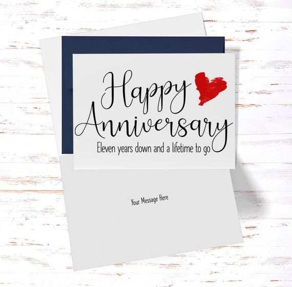 11th Anniversary Card 11th Anniversary Gift Eleventh Etsy In 2020 50th Anniversary Cards 20th Anniversary Cards Anniversary Cards For Husband