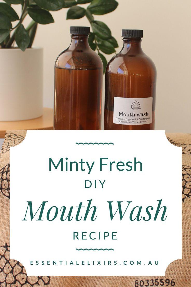 Minty fresh non toxic mouth wash