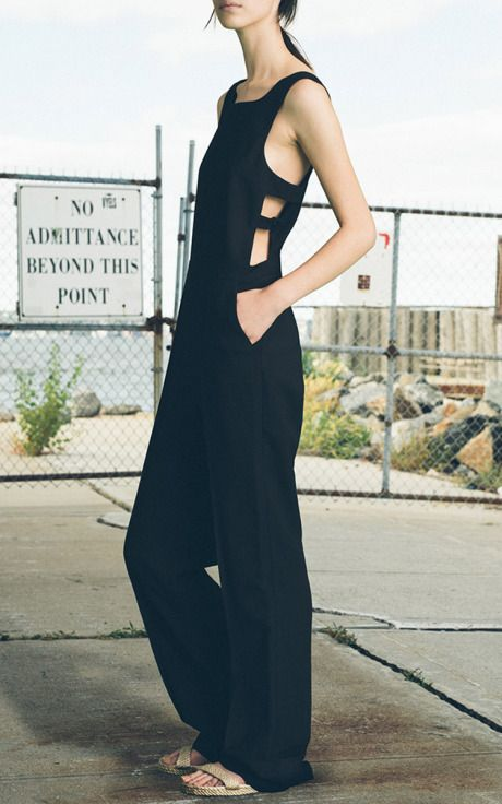 cut-out jumpsuit #style #fashion