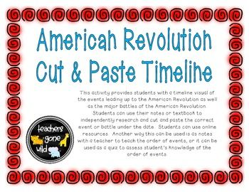 Printables American Revolution Timeline Worksheet 1000 ideas about american revolution timeline on pinterest cut paste activity