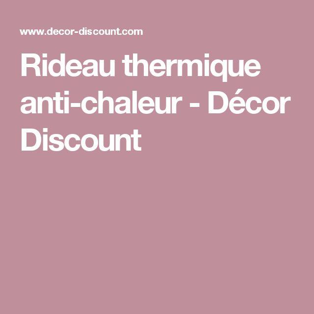 Rideau thermique anti-chaleur - Décor Discount