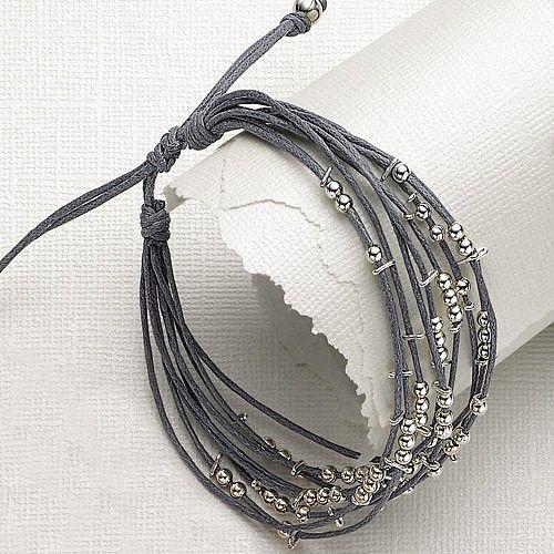 Inspiration photo - LOVE THE GRAYS! Beaded Bracelet