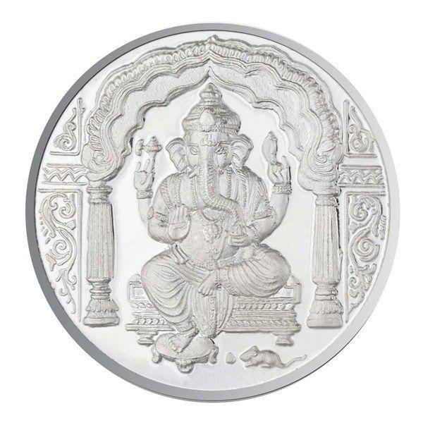 JPearls 20 Gram Ganesh Silver Coin, Lord Ganesh Pure Silver Coins