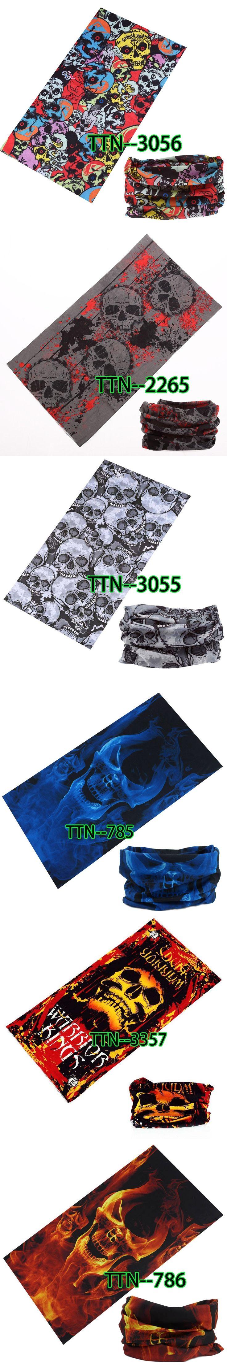 Blue Skull Bandana Head Face Mask Headwear Tube Scarf 1PCS