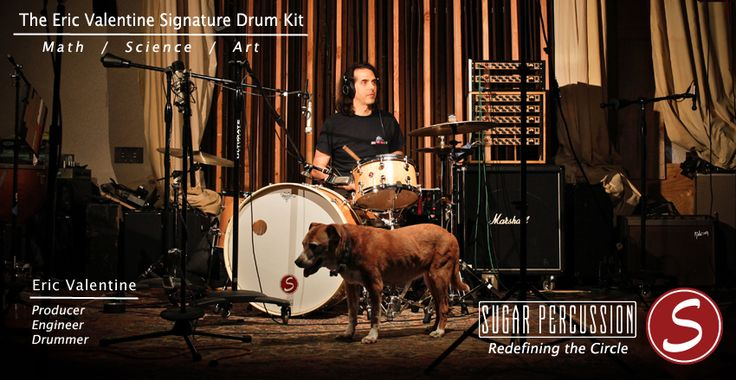 Eric Valentine Signature Drum Kit.   Sugar Percussion   Pinterest   Drums,  Drum Kit And Percussion