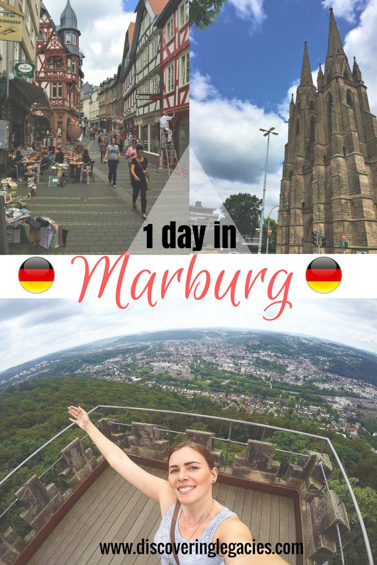 In or around Frankfurt for a few days? Plan in a day trip to Marburg, a picturesque college town from the Middle Ages with lots of history, only an hour drive or convenient train ride north of Frankfurt!