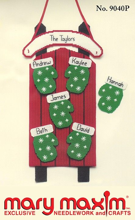 Make a plastic canvas mitten sled for Christmas with this pattern.