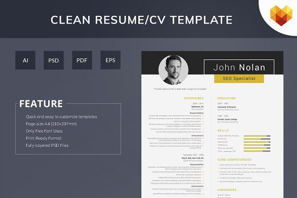 Printable Resume For Seo Specialist Resume Template Cv Resume Template Seo Specialist