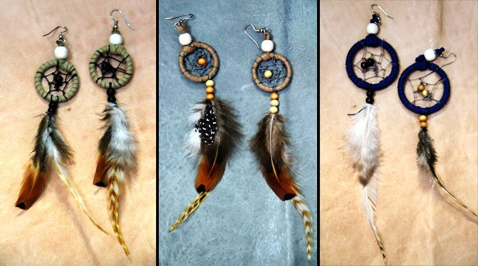DIY Dreamcatcher earringsCatchers Earrings Easy, Dreams Catchers Earrings Diy, Diy Crafts, Art Diy, Diy Accessories, Diy Dreamcatcher, Diy Dreams Catchers Earrings, Diy Create, Dreamcatcher Earrings