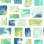 Risky Business 2 Burano Removable Wallpaper, Blue/Green/White
