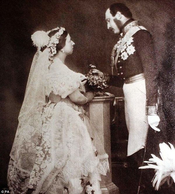 Queen Victoria and Prince Albert on their wedding day by jerry