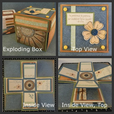 Exploding Box TUTORIAL by Patti - measurements for the lid are off (fix to come)