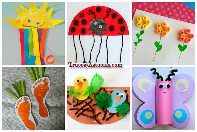 Manualidades de primavera para ni os peque os cole for Manualidades decoracion infantil