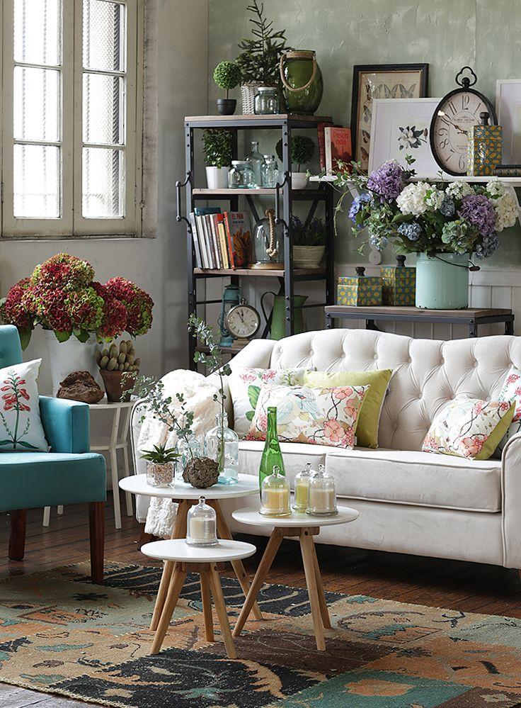 ¿Pensando en #redecorar tus espacios? Anímate con todos los #textiles y #decoración que trajimos al #DecoBazar Homy. #Botánica #Living #Plantas