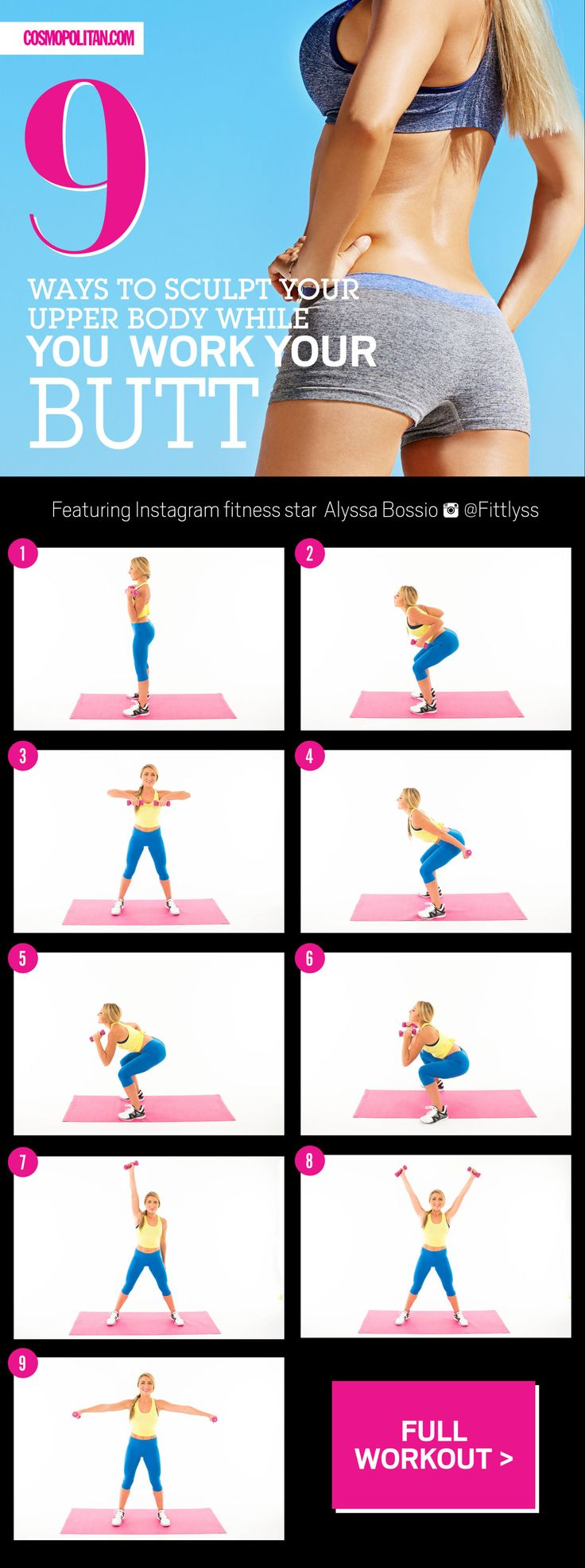 9 Miracle Workout Moves That Solve Butt Sag and Arm Flab  - Cosmopolitan.com