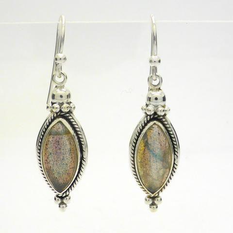 Labradorite Gemstone Cabochon Earrings | 925 Sterling Silver | Australian Supplier
