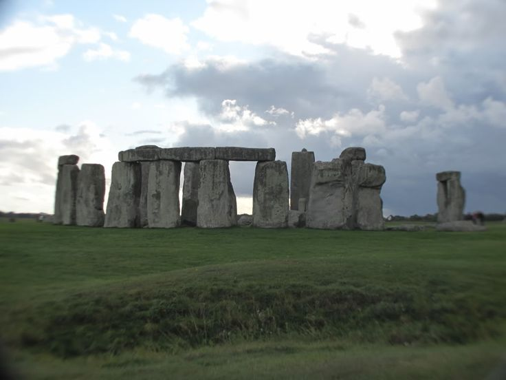 At Stonehenge right before it started raining