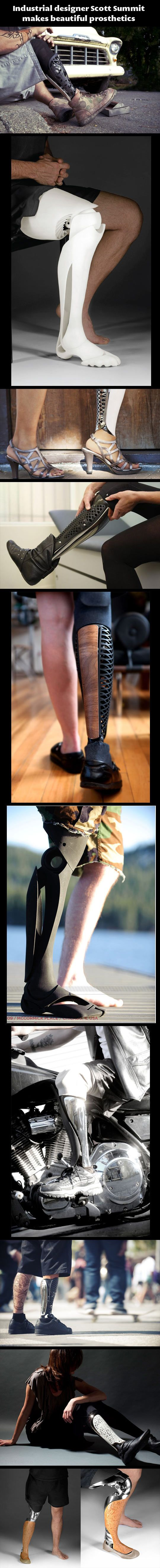 Beautiful prosthetics…Design Scott, 3Dprint, 3D Prints Art, Prosthetic Limb, Prints Prosthetic, Scott Summit, Prosthetic Legs, Industrial Design, Beautiful Prosthetic