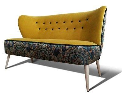 Sofa sofka klubowa, PRL, lata 60 70, uszak, design