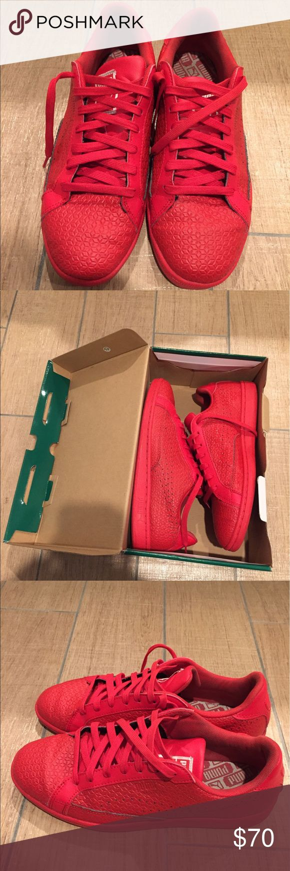Puma sneakers - Men's 8.5 Red men's Puma sneakers with box. Size 8.5 Puma Shoes Sneakers