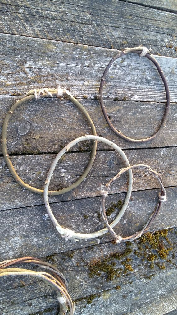 3 twigs hoops dreamcatcher circle natural willow by goodieshill
