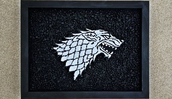 Game of Thrones Houses 3D Emblems Stark Targaryen