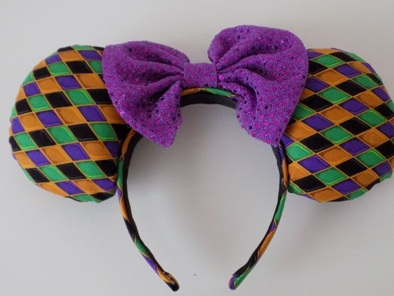 Topsy Turvy Hunchback of Notre Dame Inspired Minnie Mouse Ears Mickey Mouse Ears Headband @ dreamfinderearco.etsy.com