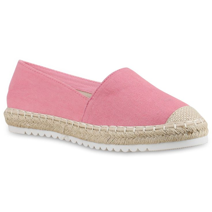 Damen Slippers Espadrilles - Pink