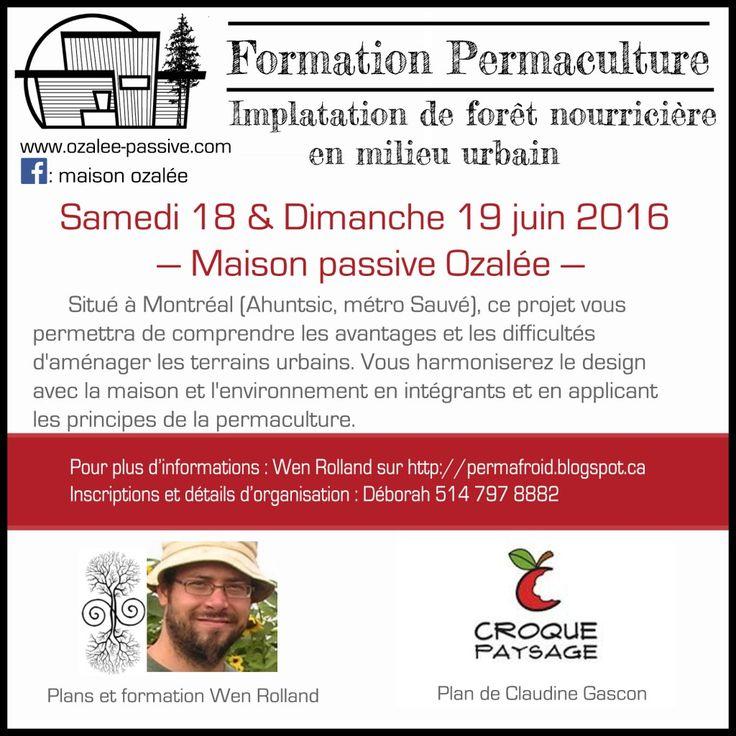 Formation permaculture juin 2016 ## Maison Passive Ozalée ##