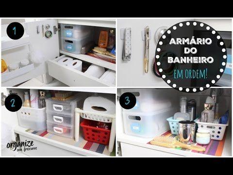 Que tal organizar o armário de banheiro e aproveitar os espaços? Nesse vídeo verá 3 ideias diferentes para organizar o armário do banheiro (embaixo da pia). ...