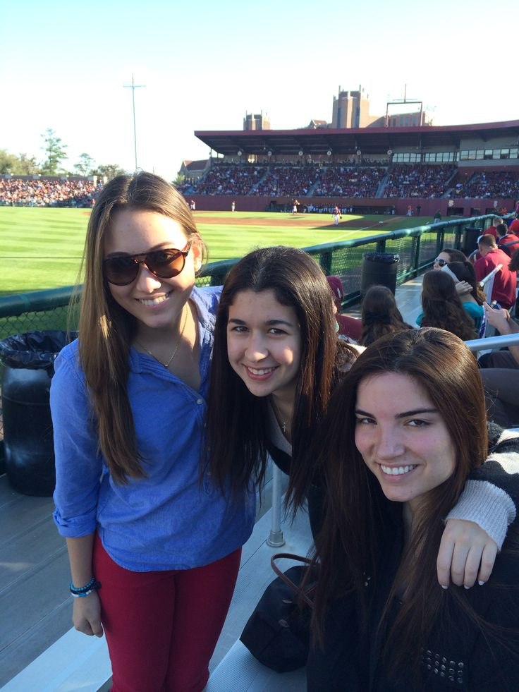 Baseball game UM vs FSU Feb.28 Nicole Zambrano, Cristi Socarraz and Ale Lazcano