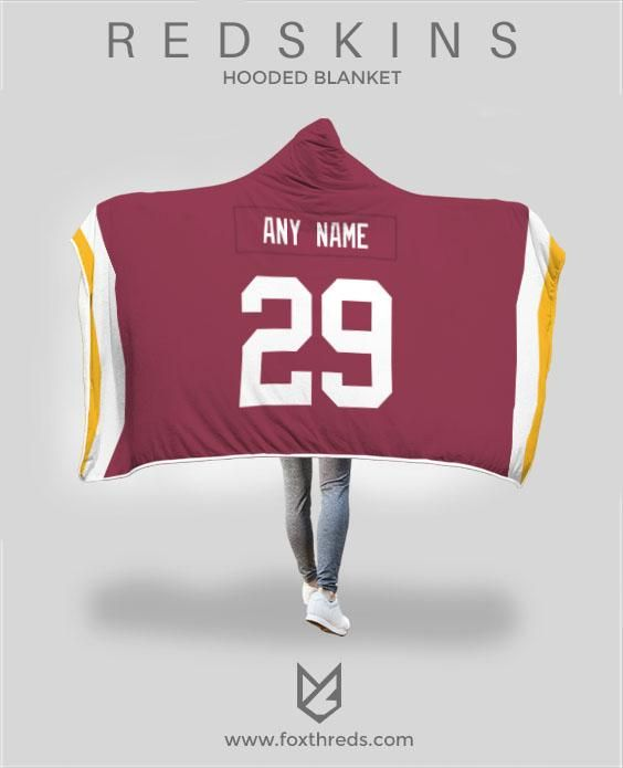 d265dd46a Washington Redskins Hooded Blanket - Personalized Any Name   Any Numbe –  FoxThreds  redskins  derriusguice  alexsmith  nfl  personalizedjersey ...