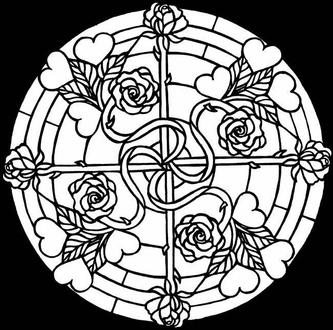 complex stained glass coloring pages - photo#45