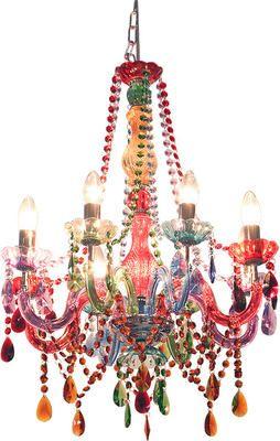 Gorgeous multicolor chandelier