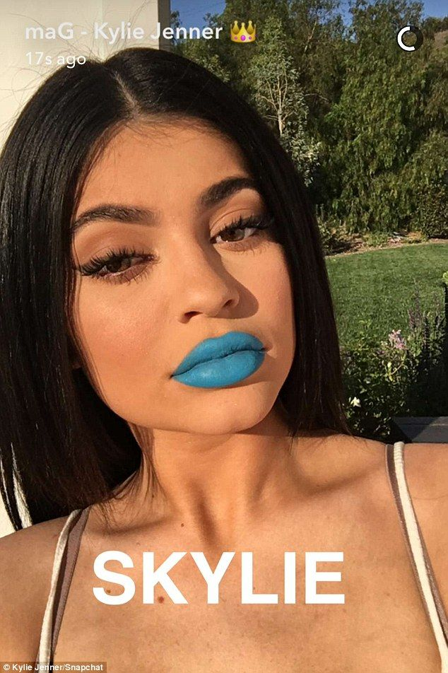 Woah: Kylie Jennertook to Snapchat on Monday afternoon to announce the latest additions to her lipstick collection, two matte liquid lipstick and coordinating liners called Skylie and Freedom