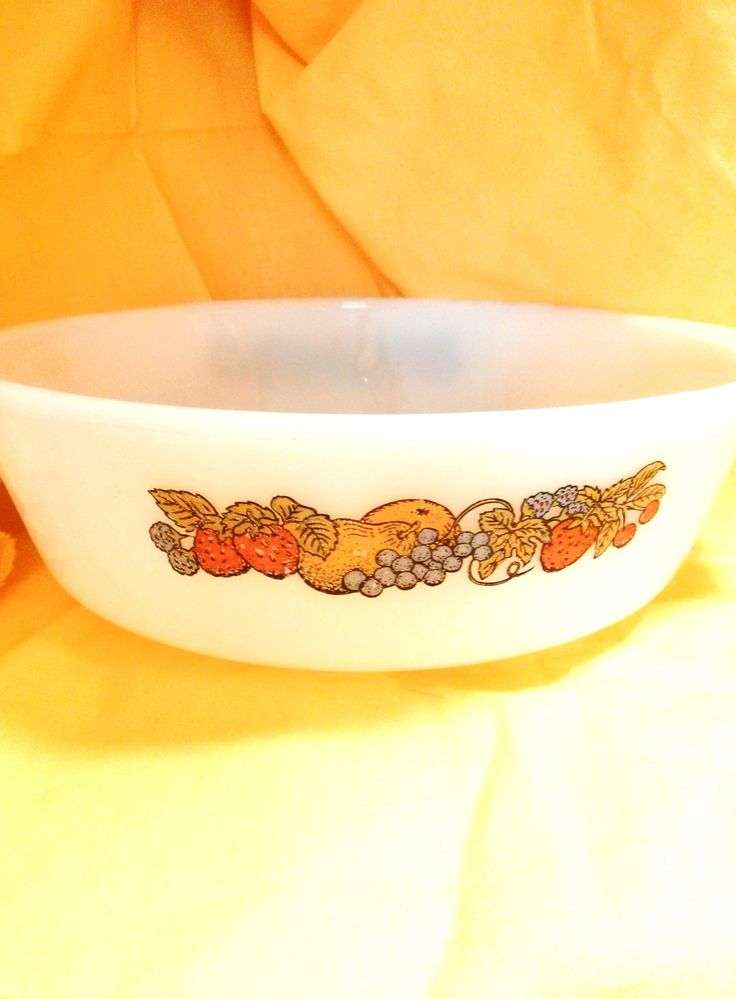 Vintage 1.5 Qt Fire King Anchor Hocking Nature's Bounty Casserole Baking Dish by AKitschIsJustAKitsch on Etsy